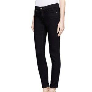 J. CREW Skinny Black Velvet Denim Ankle Jeans
